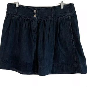 Ann Taylor Loft Peplum Midi Denim Skirt 10 Pockets